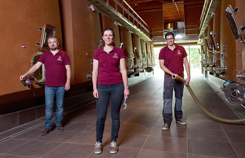Cellar team Château de Malleret