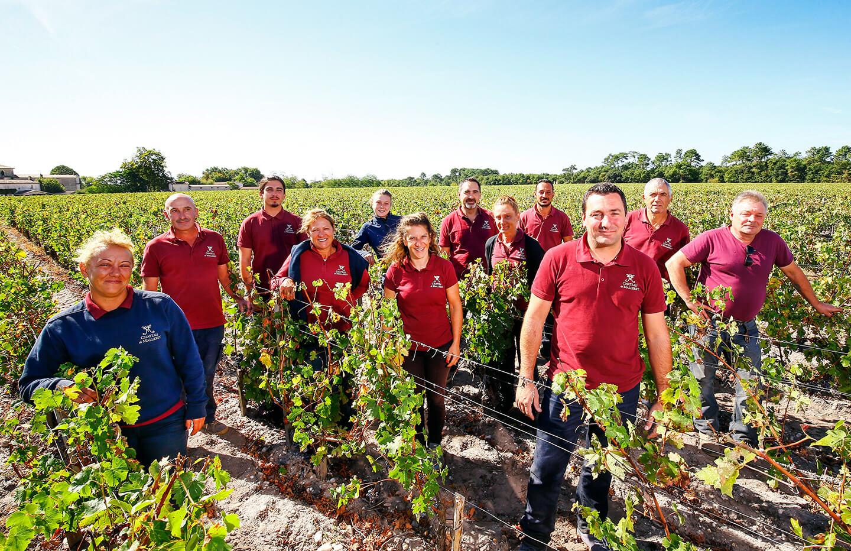 Vine team Château de Malleret